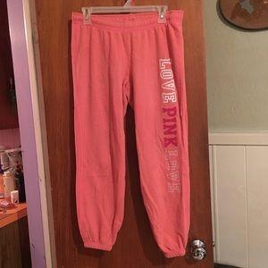 VS Pink salmon baggy sweats sz XS